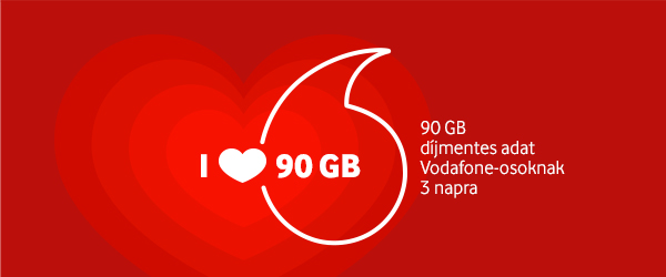 90 Gb díjmentes adat Vodafone-osokonak 3 napra